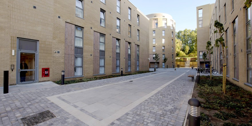Exterior views of Orwell Terrace student accommodation